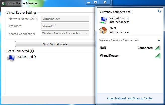 Virtual Router Manager, convierte Windows 7/8 en un punto de acceso y comparte la conexión de Internet