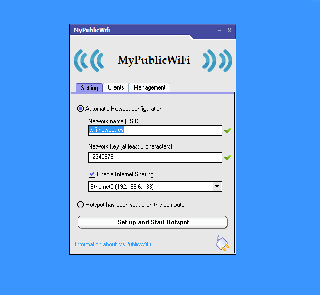Como configurar mypublicwifi